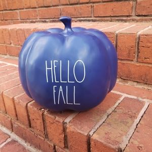 Rae Dunn HELLO FALL Blue pumpkin
